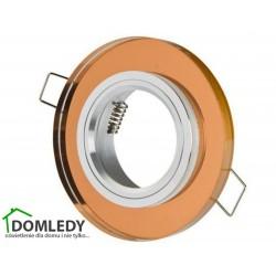 Oprawa stała szklana okrągła typ CT-7002 BRĄZOWA