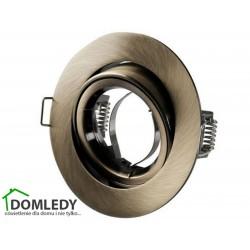 Oprawa ruchoma aluminiowa okrągła CT-009 ANTYCZNY MOSIĄDZ