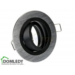 Oprawa ruchoma aluminiowa okrągła CT-8362 SILVER WITH MIDDLE BLACK