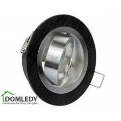 Oprawa ruchoma aluminiowa okrągła CT-8362 BLACK WITH MIDDLE SILVER