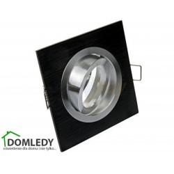 Oprawa ruchoma aluminiowa kwadratowa CT-8361 BLACK WITH MIDDLE SILVER