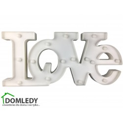 LAMPKA NAPIS LOVE LED