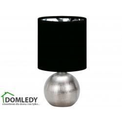 LAMPA STOŁOWA PERLO E14 SILVER/BLACK 03290