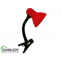 LAMPA BIURKOWA TOLA E27 RED CLIP 02854