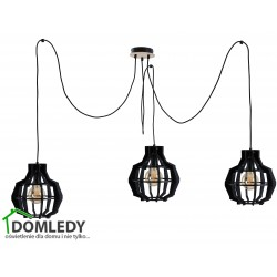 LAMPA ZWIS SUFITOWY BENTO SMALL BLACK LONG 652