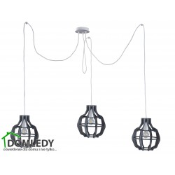 LAMPA ZWIS SUFITOWY BENTO SMALL LONG GREY 656