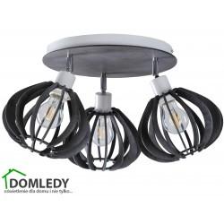 LAMPA PLAFON SUFITOWY NICOLETA  GREY 837