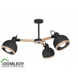 LAMPA OVAL BLACK 3XE27 MLP8662