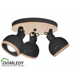 LAMPA OVAL BLACK 3XE27 MLP8659