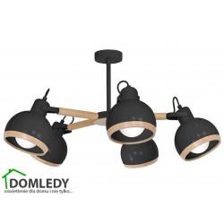 LAMPA OVAL BLACK 5XE27 MLP8663