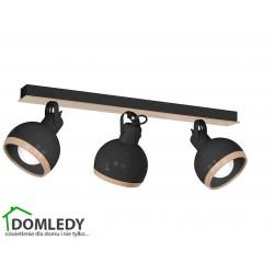 LAMPA OVAL BLACK 3XE27 MLP8658