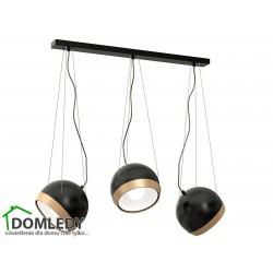 LAMPA OVAL BLACK  3XE27 MLP5472