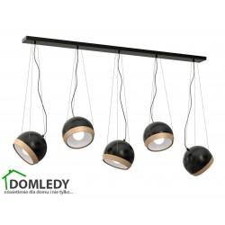 LAMPA OVAL BLACK 5XE27 MLP5473