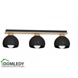 LAMPA SUFITOWA DAMA BLACK 3xE27 MLP6560