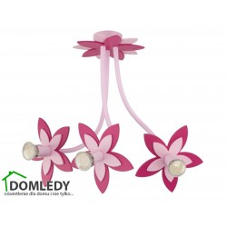 LAMPA SUFITOWA FLOWERS PINK III 6894