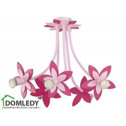 LAMPA SUFITOWA FLOWERS PINK V 6896