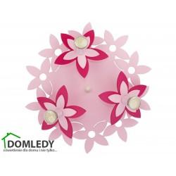 LAMPA SUFITOWA FLOWERS PINK III 6895