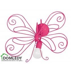 MILAGRO LAMPA KINKIET MOTYL 2 DARK PINK 1xE27 MLP5328