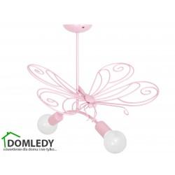 MILAGRO LAMPA MOTYL 2 PINK 2xE27 MLP3932