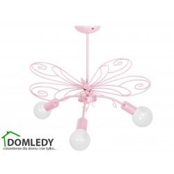 MILAGRO LAMPA MOTYL 2 PINK 3xE27 MLP3933