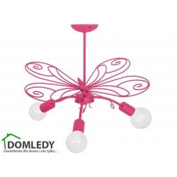 MILAGRO LAMPA MOTYL 2 DARK PINK 3xE27 MLP5330