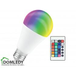 EKO-LIGHT ŻARÓWKA RGBW E27 9W KULKA